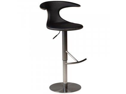 Černá kožená barová židle DanForm Flair 50-76 cm