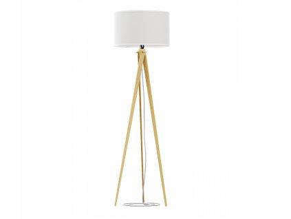 Bílá přírodní stojací lampa LF14 160 cm