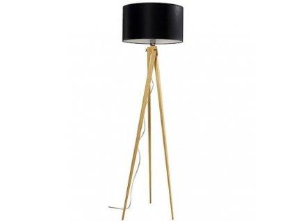 Stojací lampa LF 14, přírodní podnož, černá