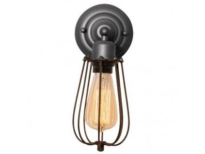 Moderní šedé kovové nástěnné světlo Bray