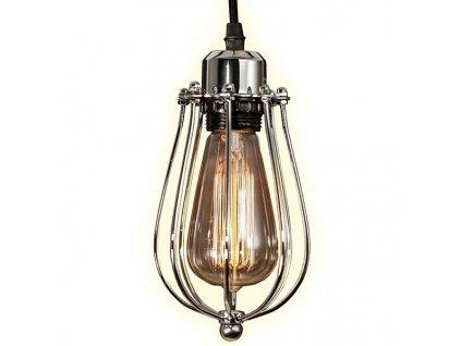 Chromové kovové závěsné světlo Bray