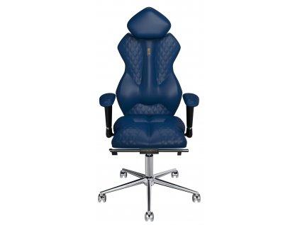 Modré koženkové kancelářské křeslo Royal