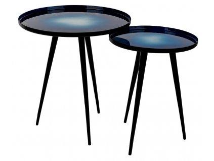 Set dvou modrých odkládacích stolků ZUIVER FLOW