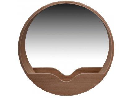 Dřevěné závěsné zrcadlo ZUIVER ROUND WALL  60 cm