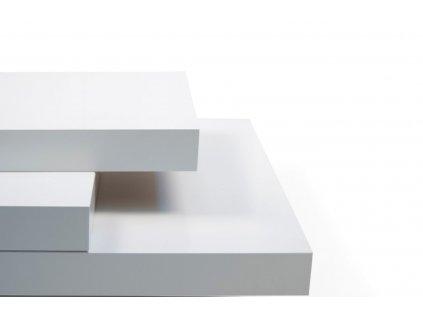 Bílý dřevěný konferenční stolek Mesa 90 x 90 cm