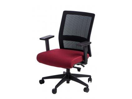 Kancelářská židle Milneo, látka, černá/červená
