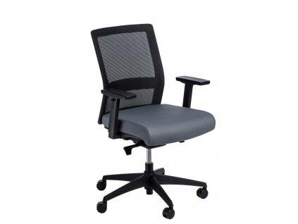 Kancelářská židle Milneo, látka, černá/šedá