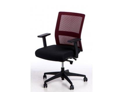 Kancelářská židle Milneo, látka, červená/černá