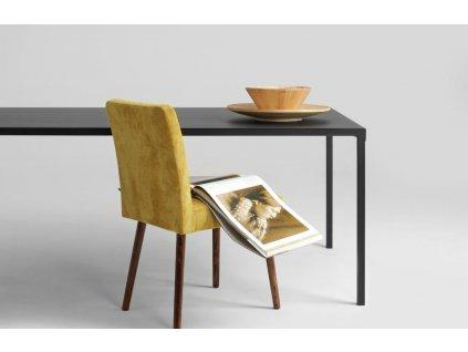 Černý kovový jídelní stůl Narvik 200x100 cm