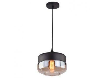 Závěsné světlo Prion Wide v provedení černá a jantarová