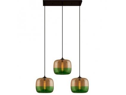 Designové transparentní zelené závěsné světlo Monaco II