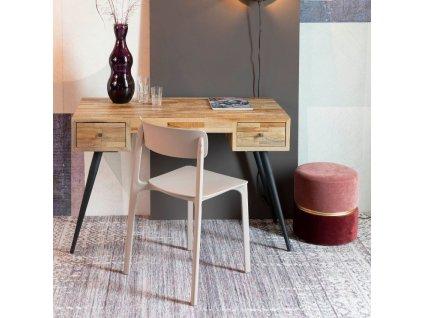 Kancelářský stůl WLL Leo, dřevo, kov