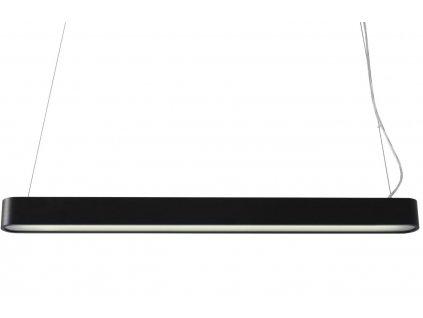 Grafitově černé kovové závěsné světlo Paxon 90 cm