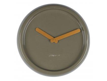Nástěnné hodinyZUIVER CERAMICØ 35 cm keramika zelené