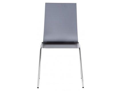 Transparentní kouřová jídelní židle Kuadra