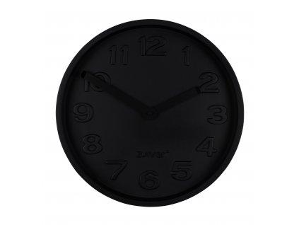 Černé betonové nástěnné hodiny ZUIVER CONCRETE TIME 3D čísla hliníkové ručičky