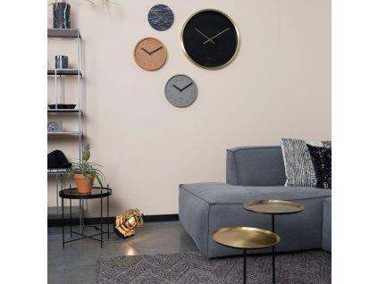 Šedé betonové nástěnné hodiny ZUIVER CONCRETE TIME 3D čísla hliníkové ručičky