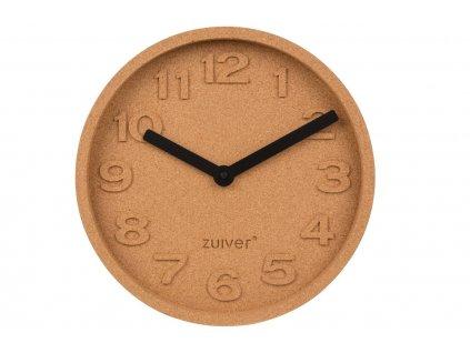 Korkové nástěnné hodiny Zuiver Cork Time s hliníkovými ručičkami