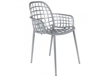 Světle šedá stohovatelná kovová židle ZUIVER ALBERT KUIP GARDEN