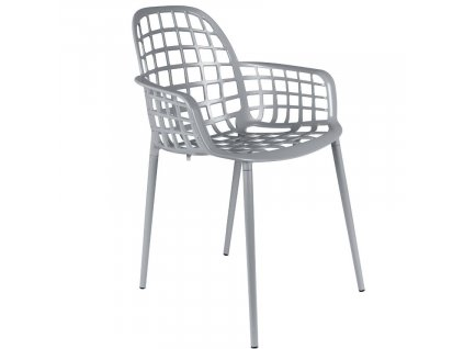 Světle šedá stohovatelná kovová židle ZUIVER ALBERT KUIP GARDEN848x848