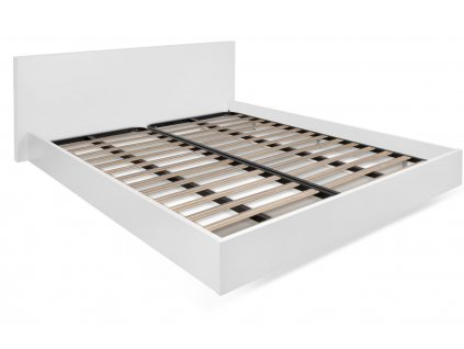 Bílá dřevěná postel Tiago 160 x 200 cm