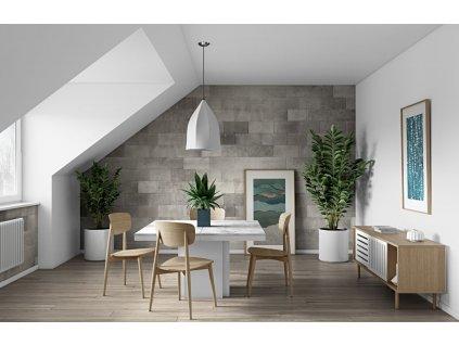 Jídelní stůl Aveiro 130 cm, bílá, bílý mramor