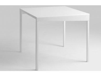 Bílý kovový jídelní stůl Narvik 80 cm