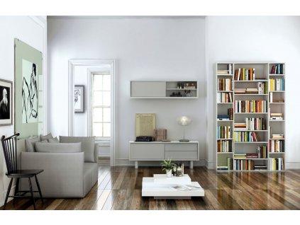 Designová knihovna Ramiro II., matná bílá