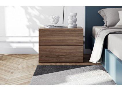 Designový noční stolek Carmo, ořech