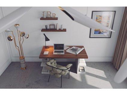 Bílý ořechový kancelářský stůl Antonio II. 180 x 90 cm