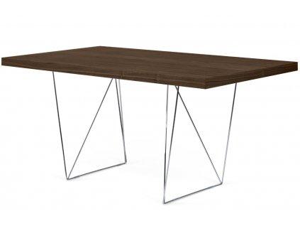 Kancelářský stůl Antonio 180 cm, chrom/ořech