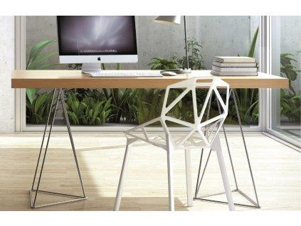 Kancelářský stůl Antonio 180 cm, chrom/dub