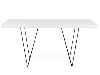 Bílý dřevěný stůl Antonio 180 x 90 cm