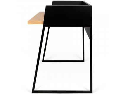 Černý dubový kancelářský stůl Glaucia 90 x 60 cm