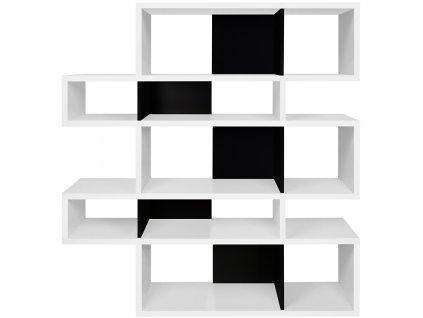 Černobílá dřevěná knihovna Evora II. 156 x 34 cmorez 848x848 14