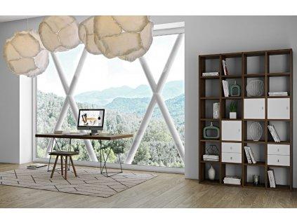 Designová knihovna Manoel I., ořech