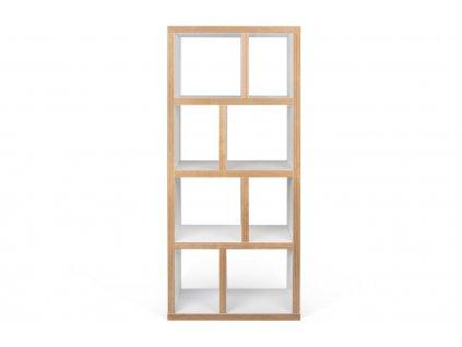 Bílá dřevěná knihovna Castelo 4 70 x 34 cm