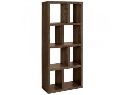 Designová knihovna Castelo 4 70 cm, ořech