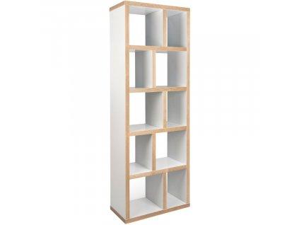 Bílá dřevěná knihovna Castelo 5 70 x 34 cm848x848