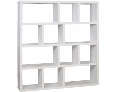 Matně bílá dřevěná knihovna Castelo 4 150 x 34 cm848x848 (1)