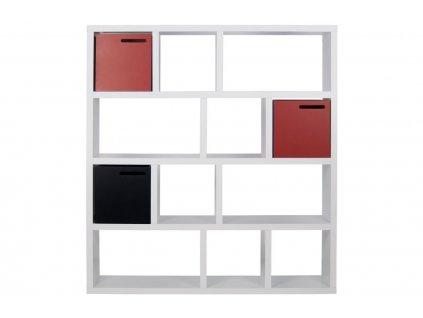 Designová knihovna Castelo 4 150 cm, matná bílá