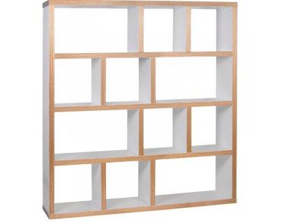 Bílá dřevěná knihovna Castelo 4 150 x 34 cm848x848 (1)