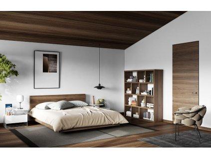 Designová knihovna Castelo 4 150 cm, ořech