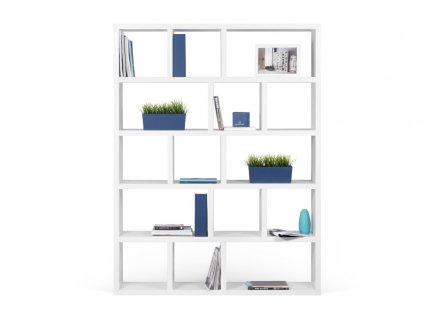 Designová knihovna Castelo 5 150 cm, matná bílá