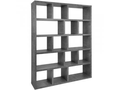 Betonově šedá dřevěná knihovna Castelo 5 150 x 34 cm848x848