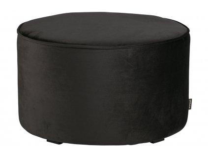 Antracitově šedý sametový taburet Norma 60 cm