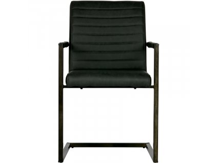 Antracitově šedá jídelní židle Jefrey