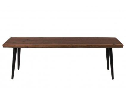 Hnědá ořechová lavice DUTCHBONE Alagon 140x40 cm