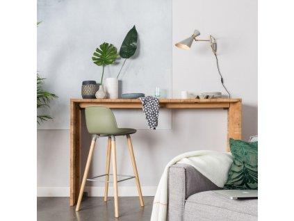 Zelená plastová barová židle ZUIVER ALBERT KUIP 65 cm