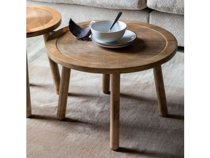 Konferenční stolek Zuiver Dendron Ø 60 cm mangové dřevo